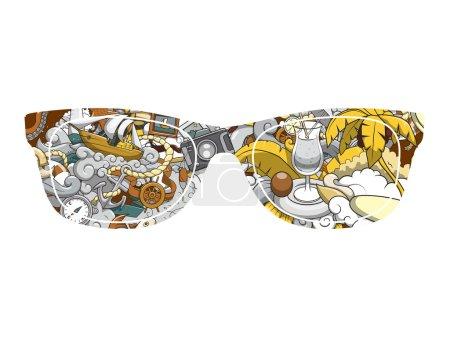 Summer sunglasses design vector illustration