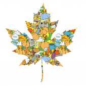 Maple leaf design elements vector illustration
