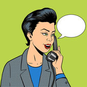 Business woman with phone vector
