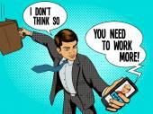 Office worker man talks with boss vector