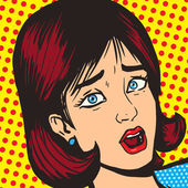 Girl scream pop art style vector