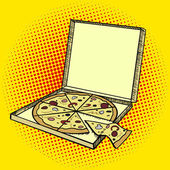 Pizza box pop art style vector