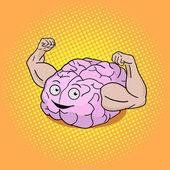 Brain training pop art style vector illustration