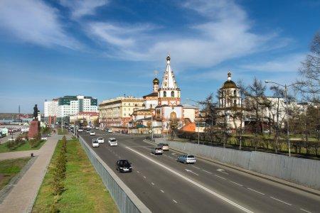 Irkutsk city. Epiphany cathedral.