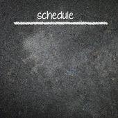 Ruční psaní plán na tabuli