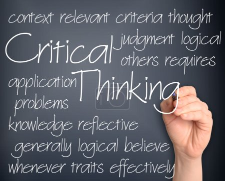 Background concept wordcloud illustration of critical thinking h