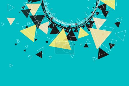 Triangles, stars and circle pattern background.