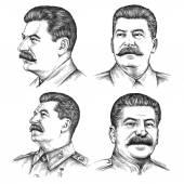 Ilustrace Josef Stalin portrétu