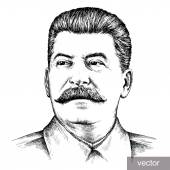 illustration of Joseph Stalin portrait