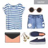 Lady fashion set of outfit Stylish and trendy clothing