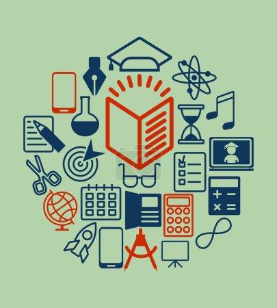 education icons gray