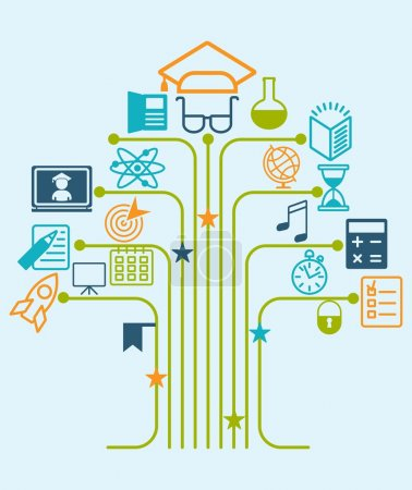 education tree icons