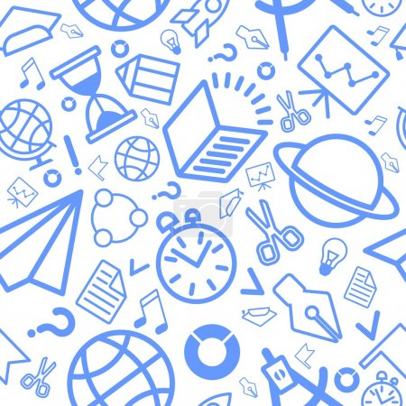 linear pattern education icons blue