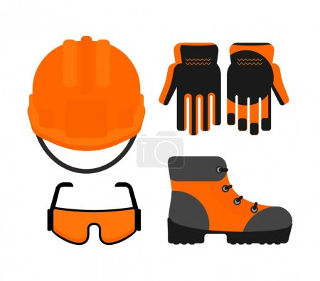 Set of protectiv work wear