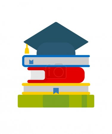 The books and university cap