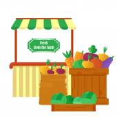 farm market with produce