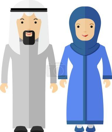 arabian couple man and women