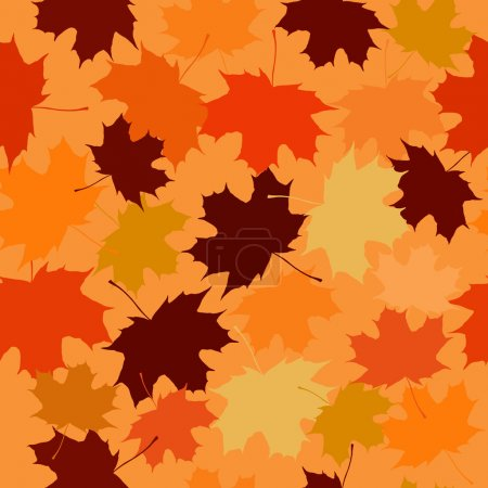 Seamless vector pattern of maple leaves.