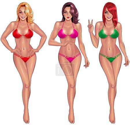 Beautiful young women in bikini