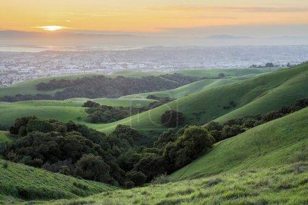 Foto de Desde Garin-Dry Creek pionero Regional parques, East Bay de San Francisco, California. - Imagen libre de derechos