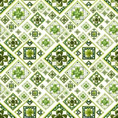 pattern with clover
