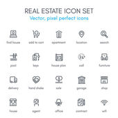 Real estate theme line icon set Pixel perfect fully editable vector icon suitable for websites info graphics and print media