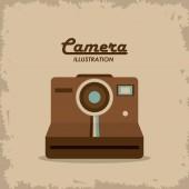Retro camera design, vektorové ilustrace