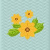 Květina vektor. Zahradní ikona. Colorfull ilustrace, květinový design