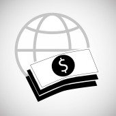 Financial item design. money icon. Flat illustration, vector gra
