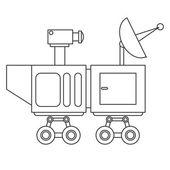 mars rover curiosity icon