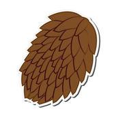 single pine cone icon