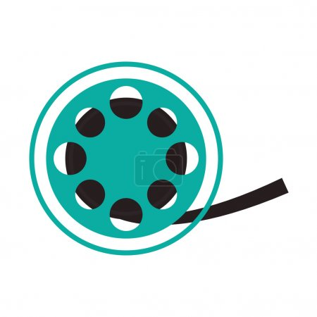 film reel cinema movie design