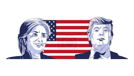 Trump and clinton presidential election