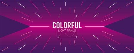 Illustration pour Sentier lumineux coloré en arrière-plan violet dessin vectoriel illustration - image libre de droit
