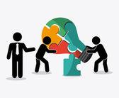 Teamwork icons design