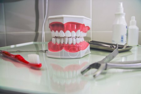 medical office of dentistry. still life on dental medical subjects in stomatology