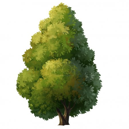 Tree for cartoon isolated