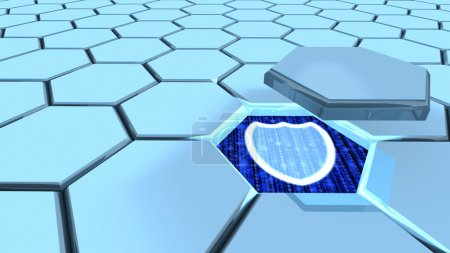Information security hexagon grid