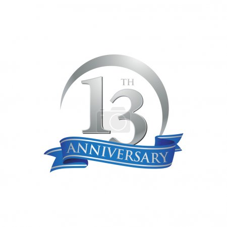 13th anniversary ring logo blue ribbon