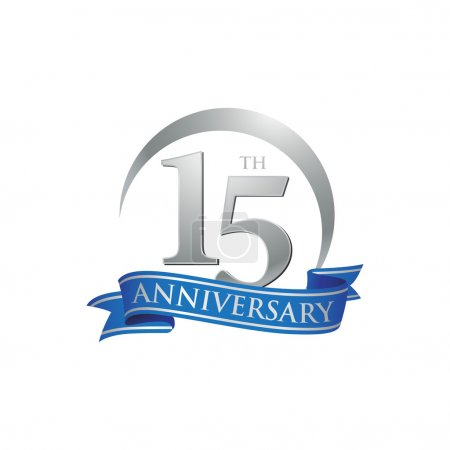 Illustration for 15th anniversary logo template. Creative design. Business success - Royalty Free Image
