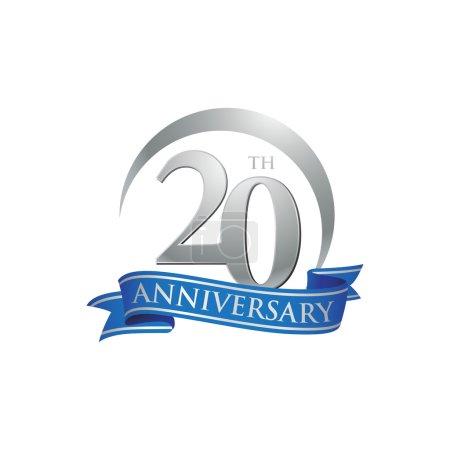 20th anniversary ring logo blue ribbon