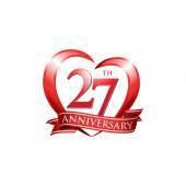 27th anniversary logo red heart
