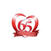 65th anniversary logo red heart