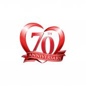 70th anniversary logo red heart