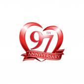 97th anniversary logo template Creative design Business success