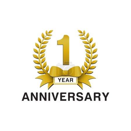 1st anniversary golden wreath logo