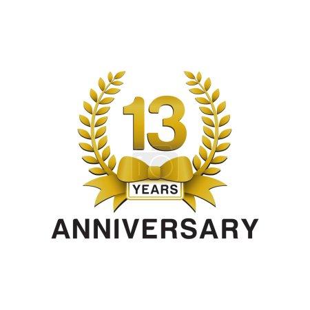 13th anniversary golden wreath logo