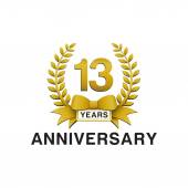 13th anniversary golden wreath logo