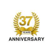 37th anniversary golden wreath logo