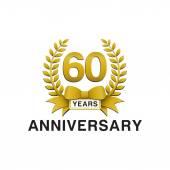 60th anniversary golden wreath logo